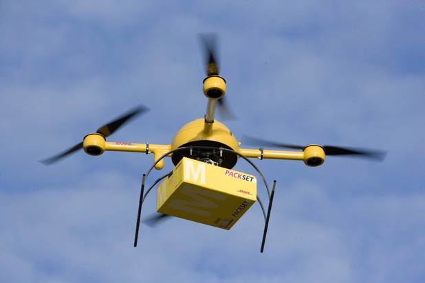 E-commerce in the Year 2025: Drones, Oracles and Block-chains